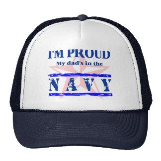 navy proud - dad trucker hat