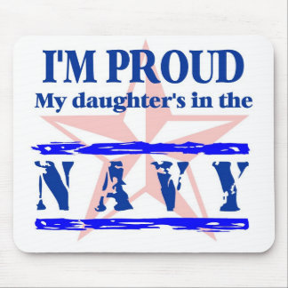 Navy proud - daughter mouse pad