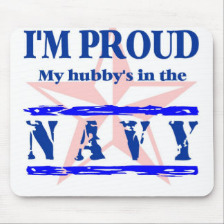 navy proud - hubby mouse pad