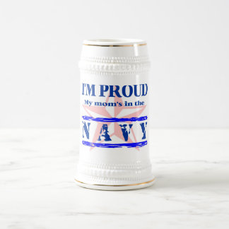 navy proud - mom beer stein