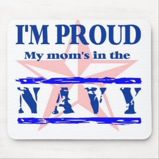 navy proud - mom mouse pad