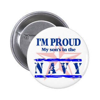Navy proud - son pinback button