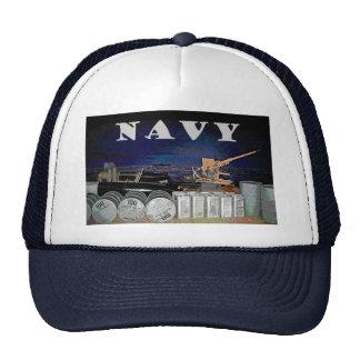 Navy Rear Gunnery Graphic Baseball Cap Trucker Hat