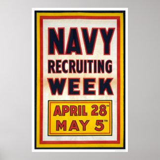 Navy recruiting week poster