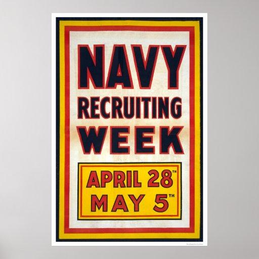 Navy recruiting week print