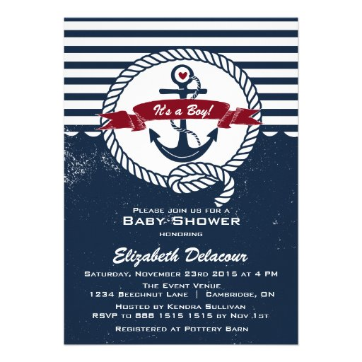 Nautical Baby Shower Invitation for your inspiration to make invitation template look beautiful