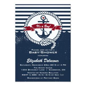 navy u0026 red rustic nautical baby shower invitation 5