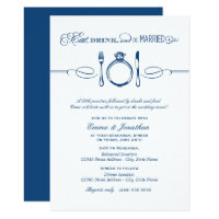 Navy Rehearsal Dinner | Eat Drink and Be Married Card