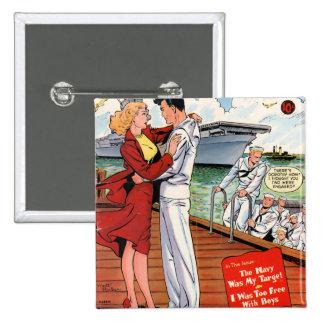 Navy Romance Pin