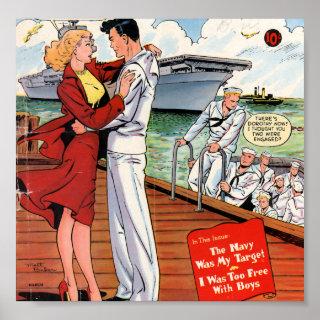 Navy Romance Poster