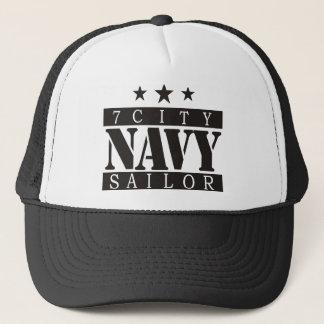 NAVY Sailor - Black Logo Trucker Hat