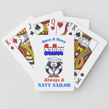 Navy Sailor Classic Playing Cards