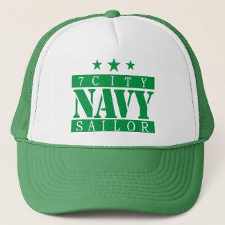 NAVY Sailor - Green Logo Trucker Hat