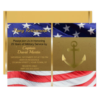 Navy Sailor Military Retirement Party Invitation