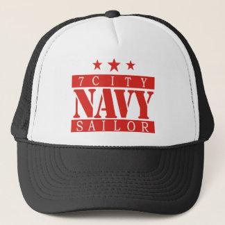 NAVY Sailor - Red Logo Trucker Hat