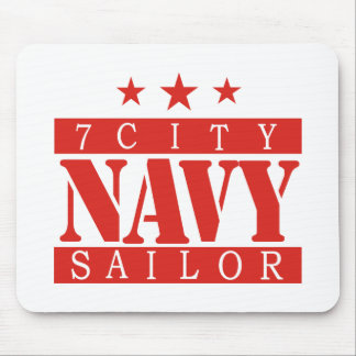 NAVY Sailor - Red Mouse Pad