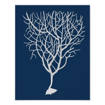 Beach Themed Navy Sea Fan #6 Beach Decor wall art