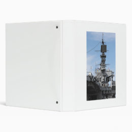 Navy Ship 3 Ring Binder