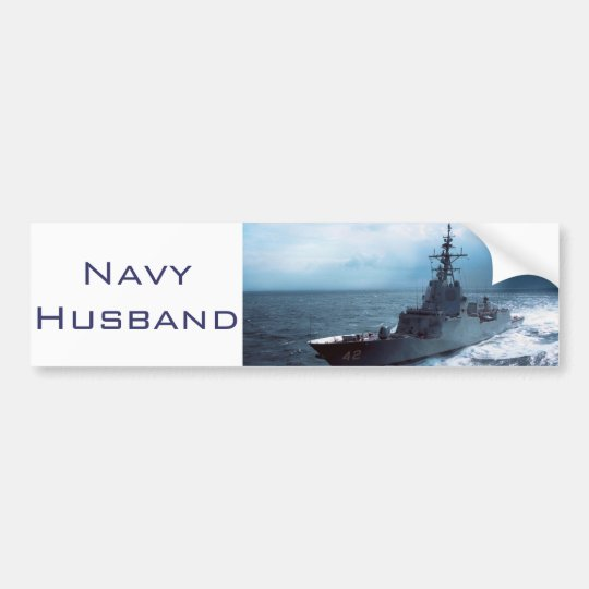 Navy Ship Bumper Sticker