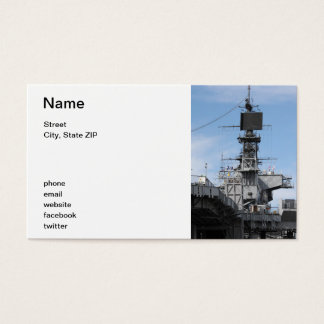 Navy Ship Business Card