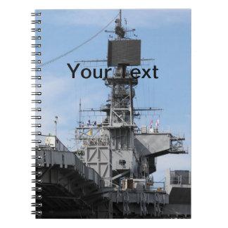 Navy Ship Notebook