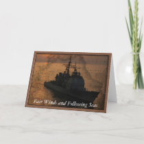 Navy ship with Fair Winds and Following Seas