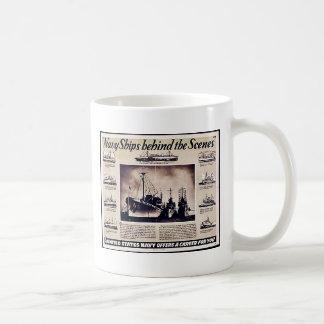Navy Ships Behind The Scenes Coffee Mug