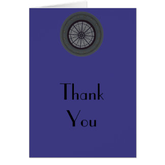 Navy & Silver Modern Thank You Note Card