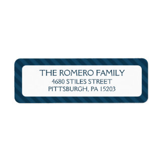 Navy Simple Stripes Custom Personalized Label