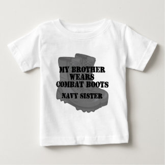Navy Sister Brother CB Baby T-Shirt