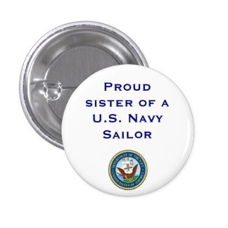 Navy sister 1 inch round button
