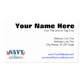 Navy Sister (Cammo) Double-Sided Standard Business Cards (Pack Of 100)