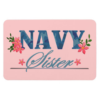 Navy Sister (Cammo) Magnet