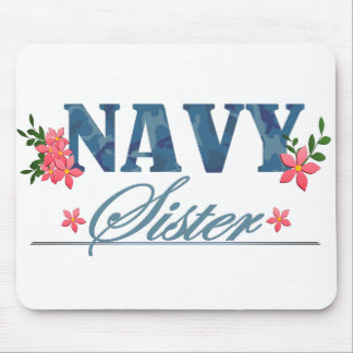 Navy Sister (Cammo) Mouse Pad