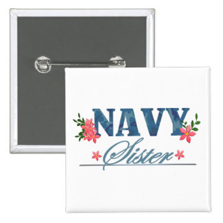 Navy Sister (Cammo) Pinback Button