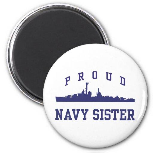 Navy Sister Fridge Magnet