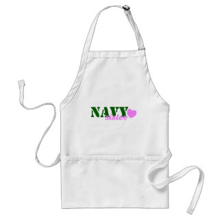 Navy Sister Green Pink Heart Adult Apron