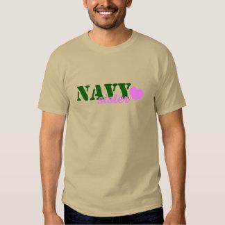 Navy Sister Green Pink Heart T-Shirt
