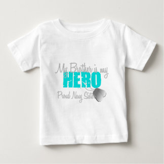 Navy Sister Hero Brother Baby T-Shirt