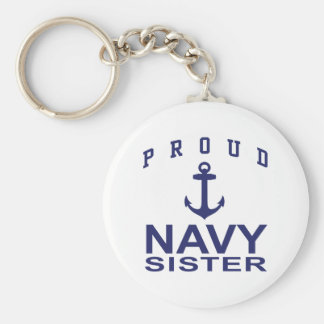 Navy Sister Key Chains