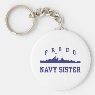 Navy Sister Keychain