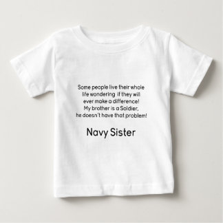 Navy Sister No Problem Brother Baby T-Shirt