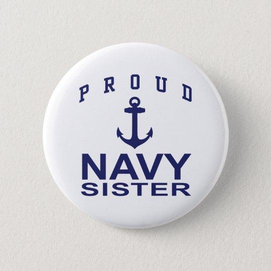 Navy Sister Pinback Button