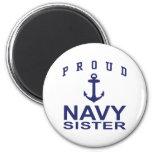 Navy Sister Refrigerator Magnet