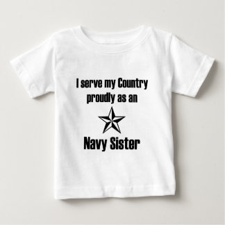 Navy Sister Serve Baby T-Shirt