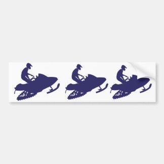 Navy-Snowmobiler Bumper Sticker