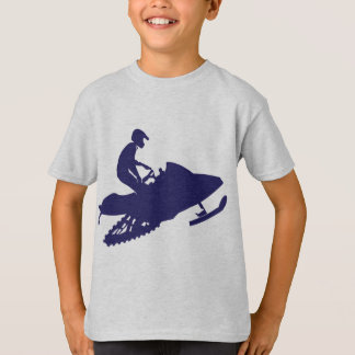 Navy-Snowmobiler T-Shirt
