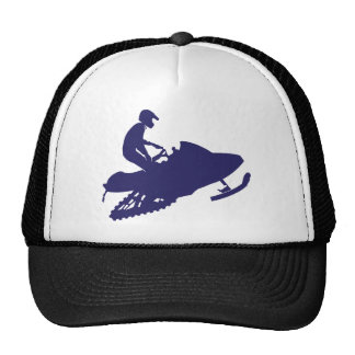 Navy-Snowmobiler Trucker Hat