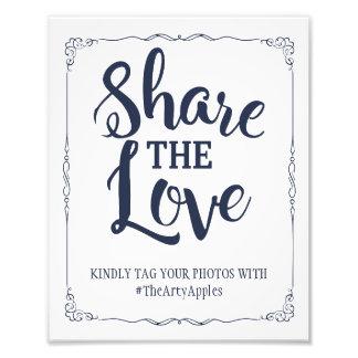 navy social media wedding sign hashtag
