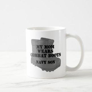 Navy Son Mom CB Coffee Mug
